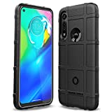 Sucnakp Moto G Power Case Shock Absorption Anti Scratch Heavy Duty Durable Drop Protection Cell Phone Cover for Motorola G Power(New Black)