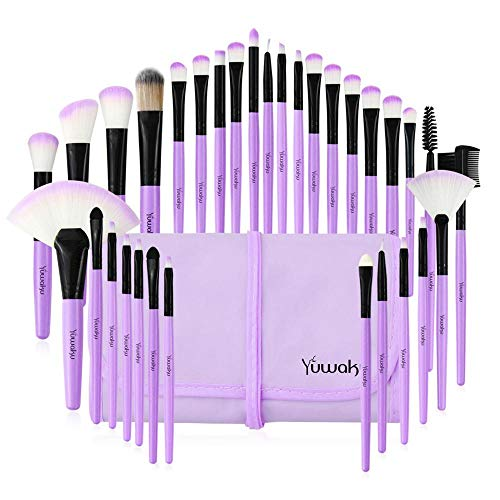 Make up Pinsel 32 Stück Makeup Brush Foundation Lidschatten Puderpinsel Mit Taschenbürsten Kits...