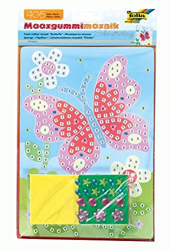 folia 23803 - Moosgummi Mosaikbild Schmetterling, 405 Teile