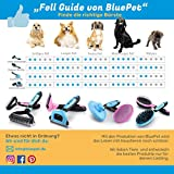Bluepet Hundebürste / Unterfellbürste – Antiallergisch, befreie deinen Liebling von Unterwolle – Innovatives Design – Entfilzen und Trimmen zugleich für optimale Fellpflege - 8