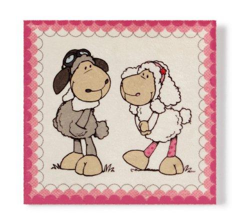 NICI 35754 – Peluche Image Mouton Jolly Dean et Sue 25 x 25 cm
