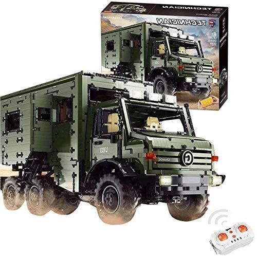 Tecnología todoterreno, control remoto + app-control, camión con luz, con control remoto y autocaravana de 9 motores Compatible con Lego Technic - 6689 piezas