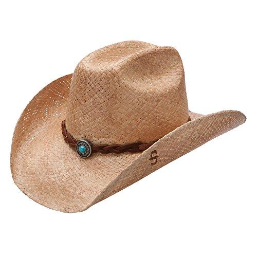Stetson Flatrock - Shapeable Straw Cowboy Hat (Medium)