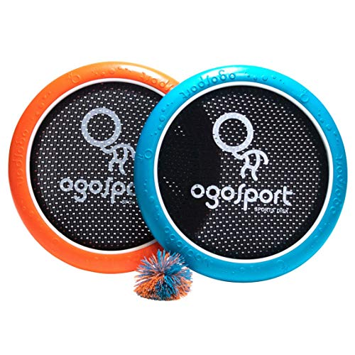 Product Image of the OgoDisk Mini Disc Set with OgoSoft Rubber Ball - Outdoor Bouncy Disk Game for...