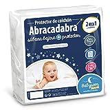 Babysom - Protector Colchón Cuna Bebé «2 en 1» - 70x140 cm - Sábana bajera + Funda Protectora Impermeable - 100% Algodón - Transpirable - Antiasfixia
