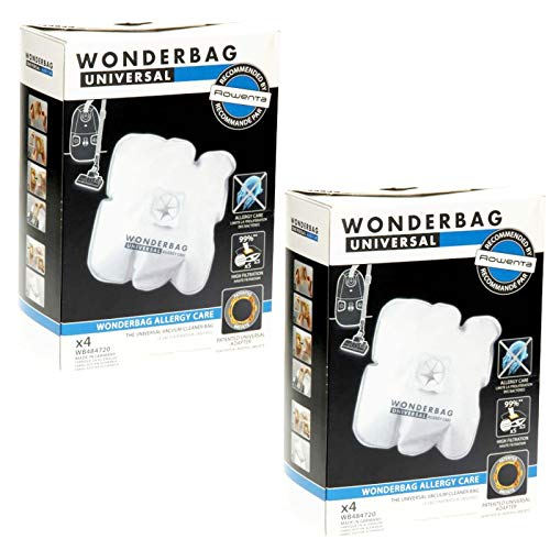Wonderbag Allergy Care Lot de 8 sacs d'aspirateur pour aspirateur Rowenta