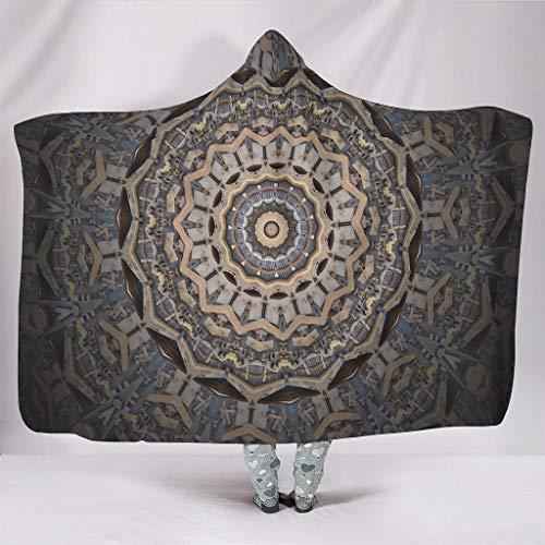 Kapuzenpulloverdecke Bequem Wearable Cuddle für Kinder und Erwachsene White 130x150cm
