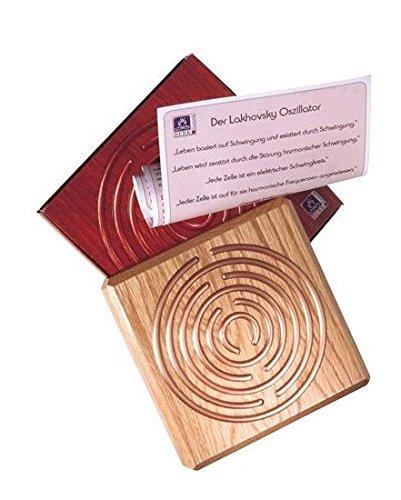 dsnetz Lakhovsky Oszillator 12x12 cm aus Eiche im Geschenkbox   energetisiert Wohnraum   verbreitet Schwingungsfeld   Radiästhesie Tensoren Pendel Ruten günstig kaufen
