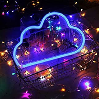 Cloud Neon Light Signs BeMoment Wall Decor Battery and USB Operated Bedside Lamps Home Decoration for Living Room,Children's Bedroom,Party,Christmas & Birthday Gift(Blue)
