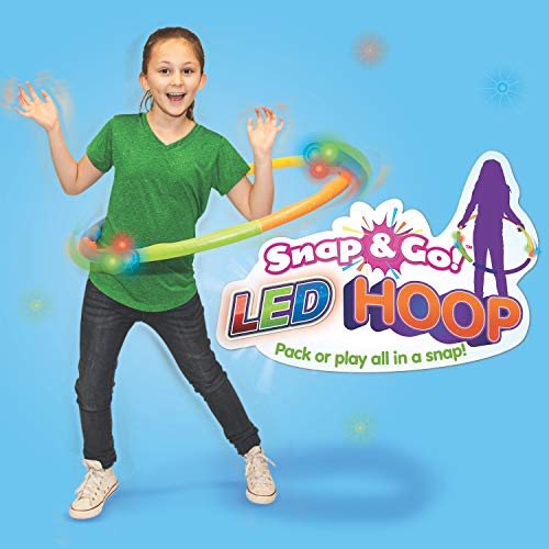 Geospace LED Snap & Go! Hoop Toy, Red, Orange, Yellow, Blue, Green, Purple (Single Pack)
