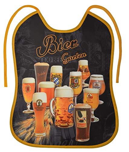 Tini - Shirts Grosses Lätzchen für Erwachsene - Bier Motiv-Latz : Bier Garten - cooler Sprüche/Motiv Latz für Senioren mit Humor Gr: OneSize