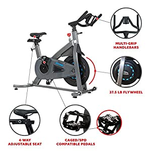 Sunny Health & Fitness Asuna 5150 Magnetic Turbo Commercial Indoor Cycling Bike