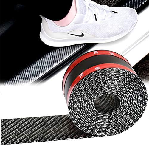 QLOUNI Auto Einstiegsleisten Aufkleber, Auto Aufkleber niversal Carbon Fiber Rubber Styling Einstiegsleistenschutz für die meisten PKW, LKW, SUV