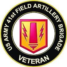 US Army Veteran 41st Field Artillery Brigade Decal Sticker 3.8