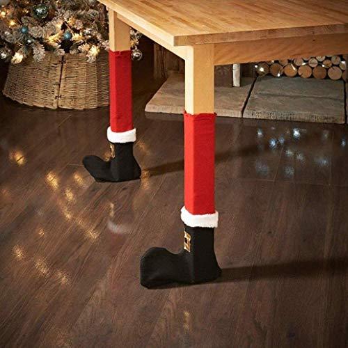 NLRHH 4 unids Christmas Red Mesa Silla Patas Pies Sock Sock Funda Protector de Piso Tablas Cubiertas de piernas Casa de Fiesta Ons DIY (Color: 01) Peng (Color : 1)