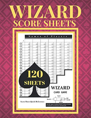 Wizard Score Sheets: 120 large score pads | Game Kit Book | Size: 8.5 x11 inches