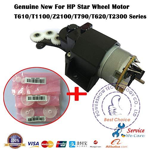 Yoton Q6718-67017 - Conjunto de motor de rueda de arranque para HP T610, T770, T790, T1100, T2300, Z3100, Z2100, Z3200, piezas de trazador: Amazon.es: Oficina y papelería