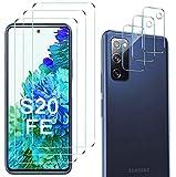 Luibor [6 in 1] Vetro Temperato Samsung Galaxy S20 FE Pellicola Protettiva + Pellicola Fotocamera,[9H] [Strumento di Installazione Facile] [HD Chiaro][Protezione Completa] 4G/5G