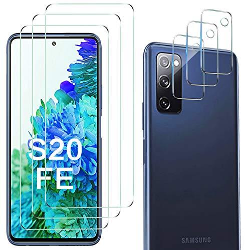 Luibor kompatibel mit Samsung Galaxy S20 FE Schutzfolie + Kamera Schutzfolie[6 in 1], Anti-Öl Anti-Bläschen Transparenz Fingerabdruck-ID Gehärtetem Glas Displayfolie Schutzfolie 4G/5G