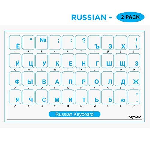 Pegatinas de Teclado Ruso Transparente