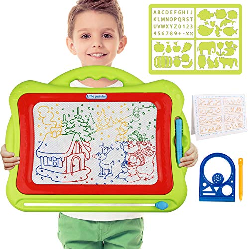 Meland Magnetic Drawing Board - Kids Magna Drawing Doodle Board Erasable Writing Sketch Board Pad Upgrade Version Green