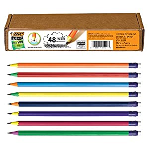 BIC Xtra Fun Lápiz de estuche, 2 plomos, colores surtidos, 48 unidades