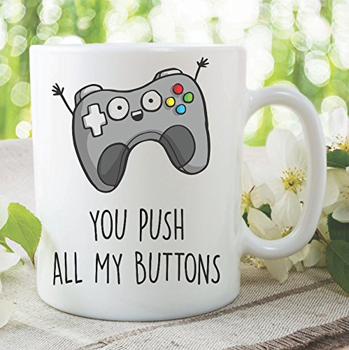 Taza de café para videojuegos, regalo divertido de jugador, taza de Xbox moderna, taza de té para marido, regalo de San Valentín, 15 onzas