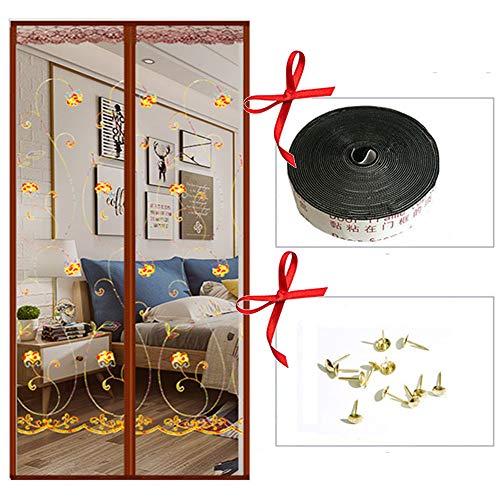 Mosquito magnetische deur, Mosquito vliegengaas magnetisch 100 x 210 cm voor deuren ramen tegen muggen vliegen 100*210cm D