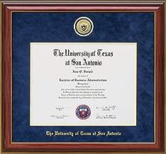 Wordyisms UT San Antonio (UTSA) Diploma Frame with School Medallion
