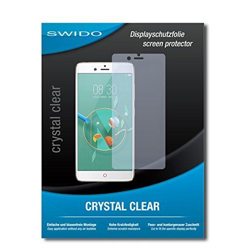 SWIDO Bildschirmschutz für Nubia Z17 Mini [4 Stück] Kristall-Klar, Hoher Festigkeitgrad, Schutz vor Öl, Staub & Kratzer/Schutzfolie, Bildschirmschutzfolie, Panzerglas Folie