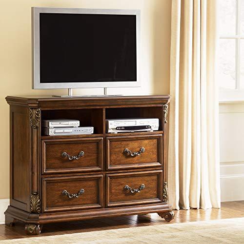 Liberty Furniture Industries Messina Estates 4-Drawer Media Chest, 48' x 19' x 38', Cognac