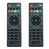 X96 Mini Remote Control (2-Pack) X96 S905W Replacement Remote Control for MXQ Pro 4K,T95M,T95N,T95X,MX9,H96,H96 pro+ Android TV Box Remote Control for KODI Box (Pack of 2)