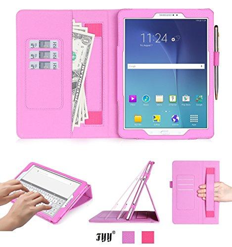FYY Galaxy Tab S2 9.7 Hülle,Tasche für Samsung Galaxy Tab S2 9.7 mit [Ständerfunktion][PU Leder] Und [Magnetverschluss] für Samsung Tab S2 9.7 Hüllen/Galaxy Tab S2 9.7 Schutzhülle-Rosa