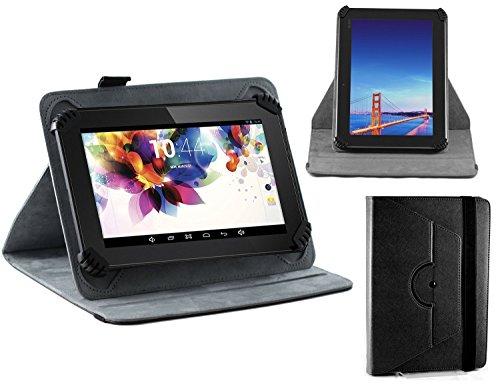 Navitech Schwarz Leder Stand Folio Tasche/Abdeckung für die Alldaymall Tablet, A33 Quad Core