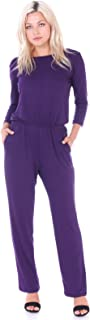Womens Casual 3/4 Sleeve Jumpsuit with Pockets Plus Size Made in USA