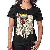 PerterOne Jean Michel Basquiat T-Shirts für Damen Schwarz