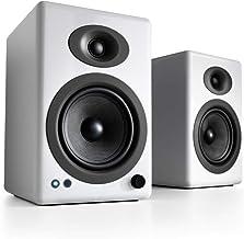 Audioengine A5+ Plus Wireless Speaker   Desktop Monitor Speakers   Home Music System aptX HD Bluetooth,150W Powered Booksh...