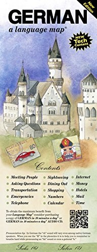 GERMAN a language map: Quick reference phrase guide for beginning and advanced use.  Words and phrases in English, German, and phonetics for easy ... Publisher: Bilingual Books, Inc.
