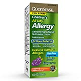 GoodSense Children's All Day Allergy, Cetirizine Hydrochloride Oral Solution 1 mg/mL, Grape Flavor, 4 Fluid Ounces