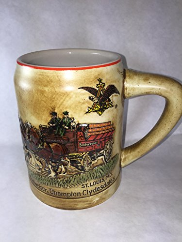BUDWEISER, RARE, CHRISTMAS HOLIDAY BEER STEIN, 1980, FIRST YEAR OF ISSUE