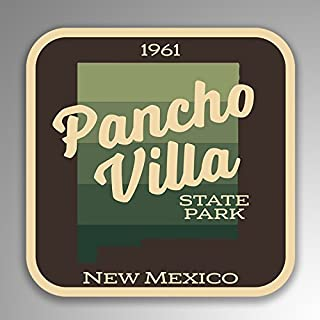 JMM Industries Pancho Villa State Park New Mexico Vinyl Decal Sticker Retro Vintage Look 2-Pack 4-inches by 4-inches Premium Quality UV Protective Laminate SPS076