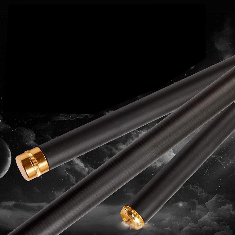 AA-fishing rod DYUG Tragbare Teleskop-Angelrute mit hohem Kohlenstoffgehalt, schwarzer Karpfen, Harte Reiseruten (2,7-7,2)