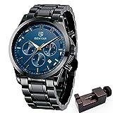 BENYAR Men's Watches Waterproof Sport Military Watch for Men Multifunction Chronograph Black/Silver...