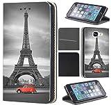KX-Mobile Hülle für Samsung A41 Handyhülle Motiv 216 Eifelturm Paris Schwarz Rot Auto Premium aus Kunstleder Beidseitig Bedruckt HandyCover Handyhülle für Samsung Galaxy A41 Hülle