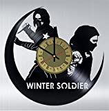 Bucky Barnes Vinyl Clock | Captain America Winter Soldier | Best Gift for Marvel Comics Fans | Original Wall Home Decor -  Artwork Decor