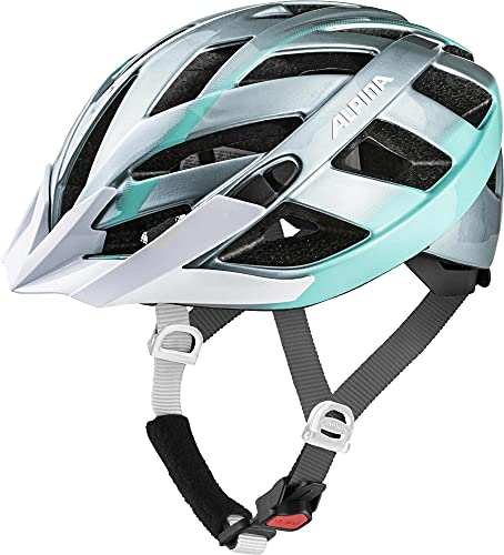 ALPINA Unisex - Erwachsene, PANOMA 2.0 Fahrradhelm, steelgrey-smaragd gloss, 52-57 cm