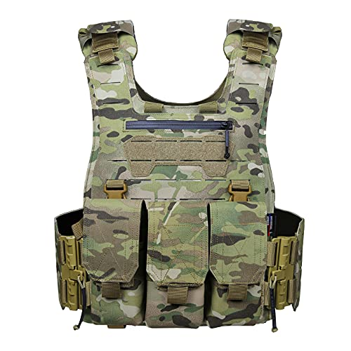 DragonGear Taktischer Plattenträger Weste, U.T.A Tactical Vest Cs Feld Swat Tactical Vest, Camouflage Kampfweste Outdoor Feldspiel Kampfsport Training Schutz