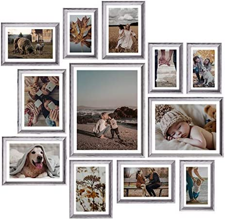 Homemaxs Picture Frames Set of 12 Rustic Picture Frames Collage Picture Frames Set for Tabletop product image