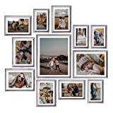 Homemaxs Picture Frames Set of 12, Rustic Picture Frames Collage Picture Frames Set for Tabletop or Wall Decor, Four 4x6 in , Four 5x7 in, Two 6x8 in, One 8x10 in ,One 11x14 in