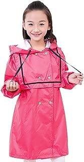 LHY- Raincoat M/L Children's raincoat Boys and Girls Outdoor raincoat Poncho with Bag Convenient (Size : M)